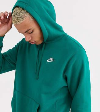 Nike Tall Club hoodie in green