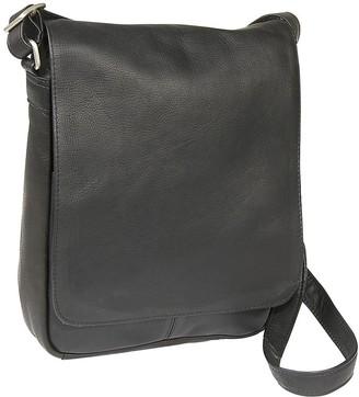 Le Donne Leather Flap-Over Shoulder Bag