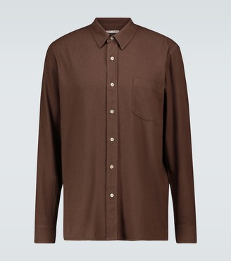 Our Legacy Long-sleeved silk noil shirt