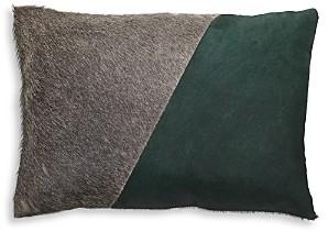 Mitchell Gold Bob Williams Two-Tone Calf Hair & Linen Pillow, 20 x 14