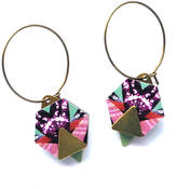 Mica Peet Geometric Hexagon And Triangle Earrings Hoops Jewellery