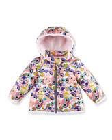 Fendi Hooded Monster-Print Jacket, Pink/Multicolor, Size 12-24 Months