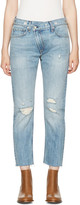 Rag & Bone Blue Wicked Eyelet Jeans