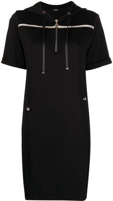 Liu Jo Hooded Cotton Dress