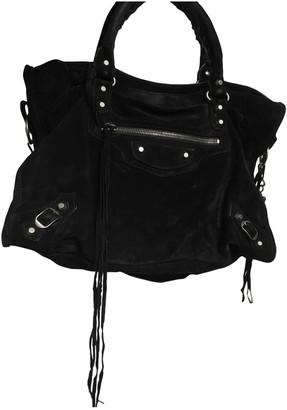Balenciaga Work Black Suede Handbags
