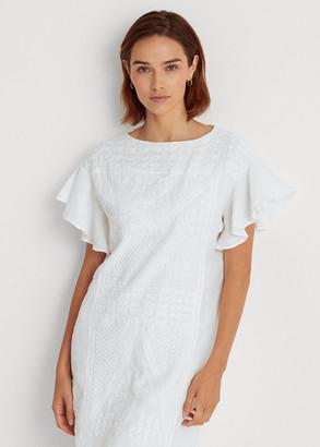 Ralph Lauren Embroidered Linen Dress