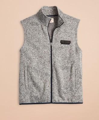 Brooks Brothers Zip-Up Fleece Sweater Vest