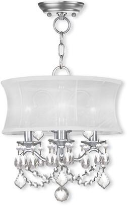 Livex Lighting Livex Newcastle 3-Light Bn Chain Hang/Ceiling Mount