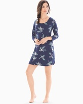 Soma Intimates Relaxed Sleepshirt Let It Snow Navy