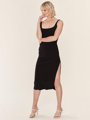 Bec & Bridge Valentine Bonded Crepe Midi Dress