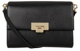 Lodis Stephanie Under Lock & Key - Small Eden Leather Crossbody Bag - Black