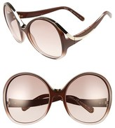 Chloé Women's Mandy Oversized Oval 61Mm Sunglasses - Gradient Grey/ Turtledove