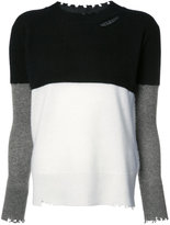 RtA cashmere colour block jumper