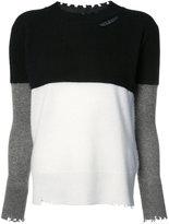 RtA colour block jumper