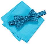 Alfani Men's Venus Geo Pre-Tied Bow Tie & Pocket Square Set, Only at Macy's