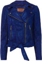 Missoni Blue Lurex Moto Jacket