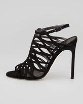 Manolo Blahnik Coddila Strappy Suede High-Heel Sandal
