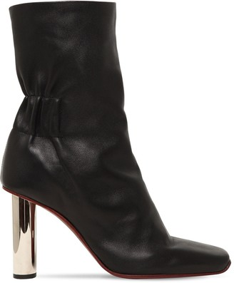 Proenza Schouler 100mm Leather Ankle Boots W/ Metal Heel