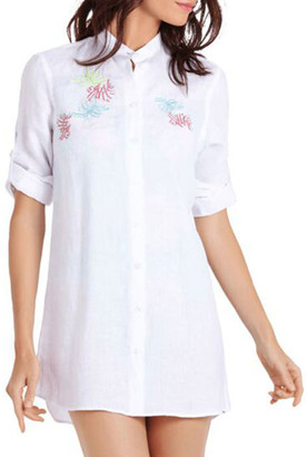 Vilebrequin Franche Embroidered Linen Coverup