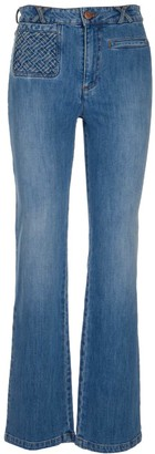 See by Chloe Braided Pocket Flared Jeans