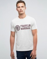 Franklin & Marshall Franklin And Marshall Large Crest T-shirt