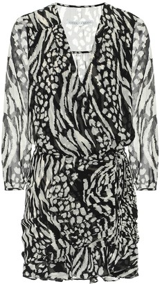 Veronica Beard Kiran animal-print silk minidress