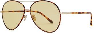 Linda Farrow Luxe 963 C1 Tortoiseshell Aviator-style Sunglasses