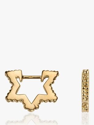 Wanderlust Emily Mortimer Jewellery Textured Mini Star Hoop Earrings