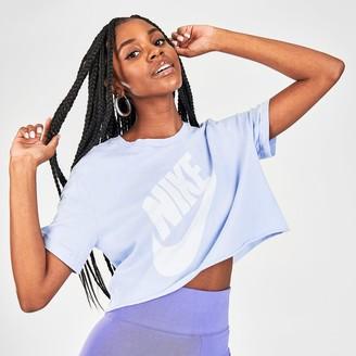 Nike Women's Sportswear Washed Cropped T-Shirt