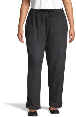 Just My Size French Terry Jogger Pants with Lace Details