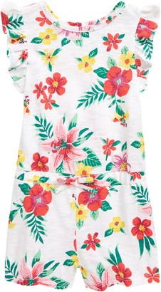 Little Me Floral Knit Romper