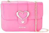 Love Moschino heart buckle shoulder bag - women - Polyurethane - One Size
