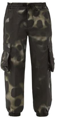 TEMPLA Hara Abstract Camo-print Cargo Ski Trousers - Grey Multi