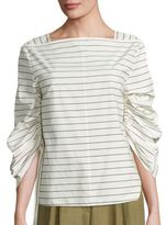 Tibi Sculpted Box-Fit Cotton Top