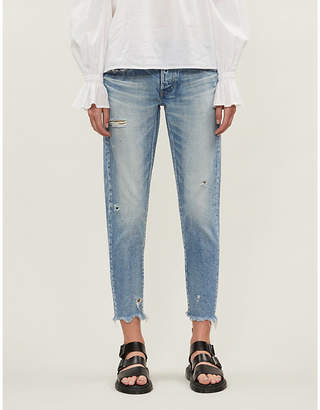 Moussy VINTAGE Kelley cropped tapered low-rise jeans