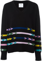 Barrie - knitted v-neck sweater - women - Cashmere - XS