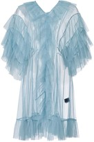 By Moumi Tulle Babydoll In Cloudy Blue
