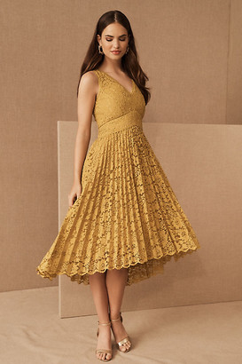 BHLDN Perri Dress By in Yellow Size 0