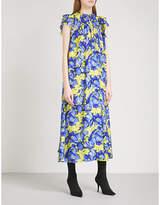 Balenciaga Fluid floral-print crepe-de-chine dress