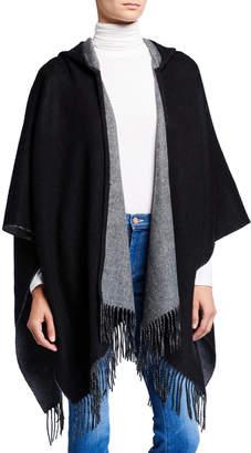 Portolano Wool-Blend Ruana with Hood
