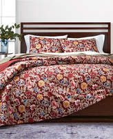 Martha Stewart Collection Climbing Blossoms Cotton Reversible Full/Queen Quilt, Created for Macy's