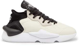 Y-3 Y 3 Kaiwa Thick Sole Leather Trainers - Mens - White Black