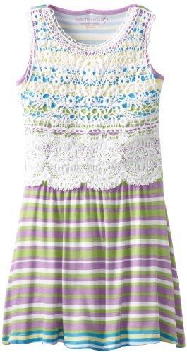 Design History Girls 7-16 Printed Stripe Dress
