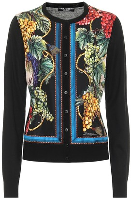 Dolce & Gabbana Printed cashmere and silk cardigan
