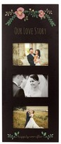 Cathy's Concepts Floral Love Story 3-Window Picture Frame