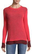 Inhabit Double Layer Tonal Cashmere Sweater