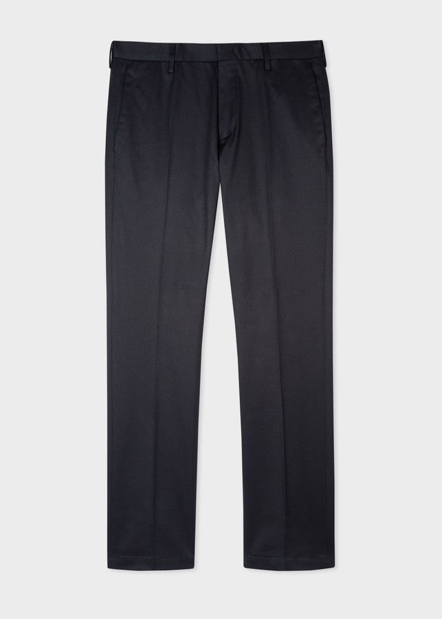 Paul Smith Men's Slim-Fit Navy Stretch-Cotton Chinos