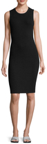 James Perse Cotton Ribbed Crewneck Sheath Dress