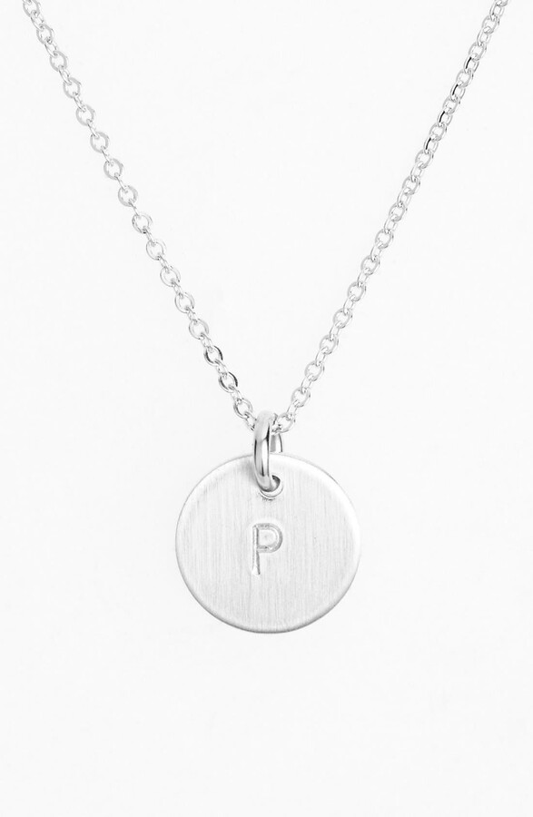 1f5075b829f17 Sterling Silver Initial Mini Disc Necklace