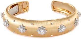Buccellati 'Macri' diamond 18k yellow gold cuff
